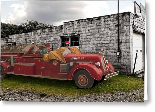 Mack Firetruck Greeting Card