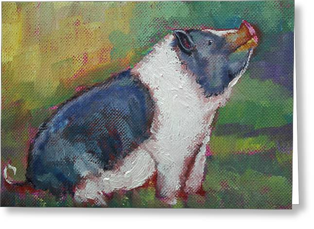 Mack The Pig Greeting Card
