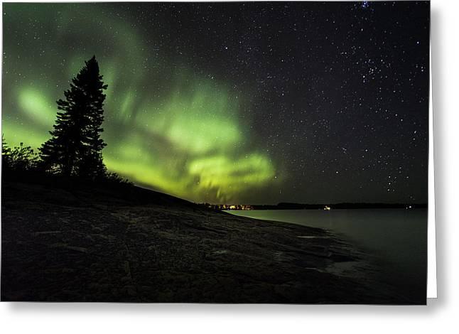 Mackenzie Point Aurora 4 Greeting Card by Jakub Sisak