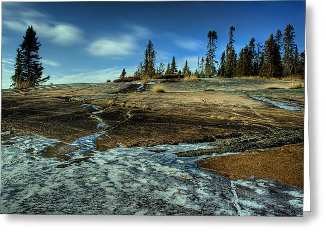 Mackenzie Point Outcrop Greeting Card