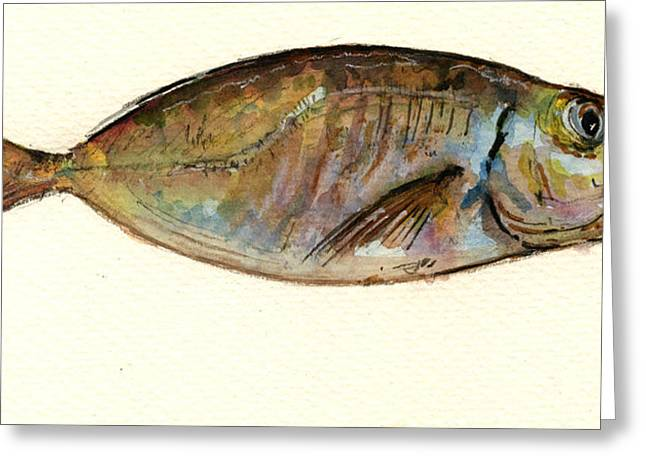 Mackerel Scad Greeting Card by Juan  Bosco