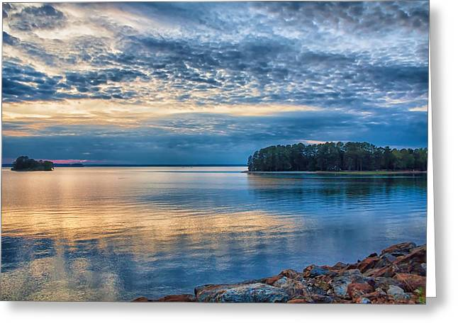 Mackerel Sunset Greeting Card by Lynne Jenkins