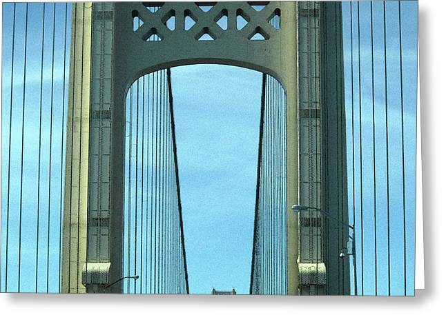 Mackinac Bridge Detail 2 Greeting Card