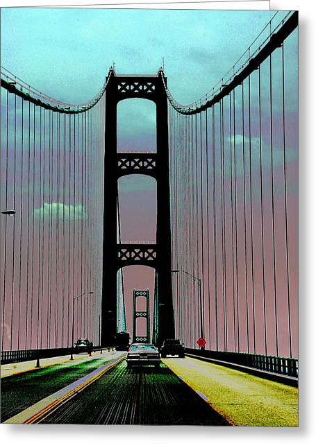 Mackinac Bridge Fantasy Greeting Card