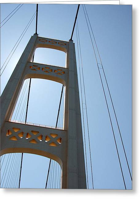 Mackinac Bridge Greeting Card by Michelle Calkins