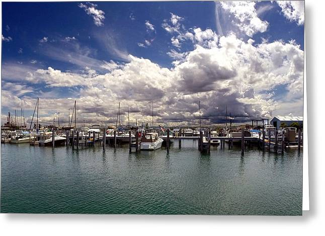 Mackinaw City Marina Greeting Card