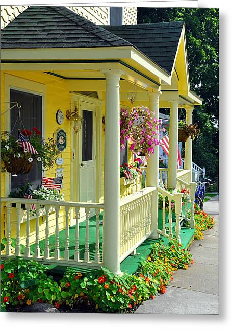 Mackinac Island Americana Greeting Card