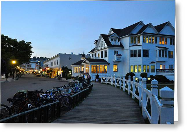 Mackinac Island At Dusk Greeting Card