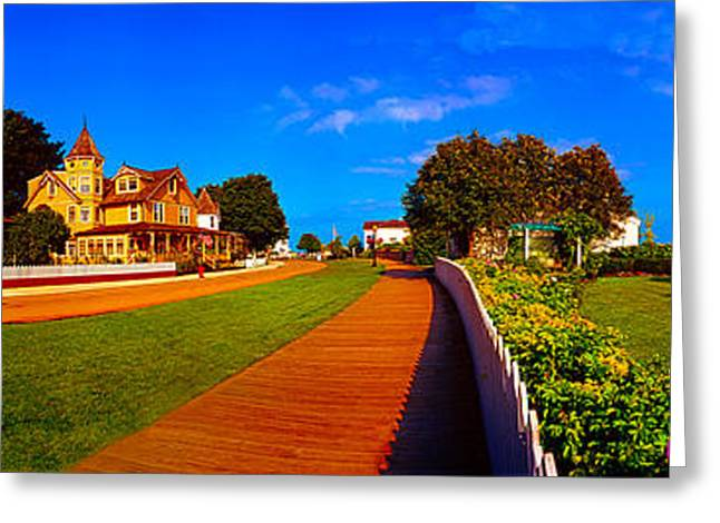 Greeting Card featuring the photograph Mackinac Island Flower Garden  by Tom Jelen