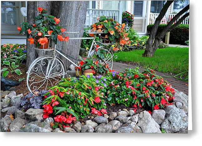 Mackinac Island Garden Greeting Card