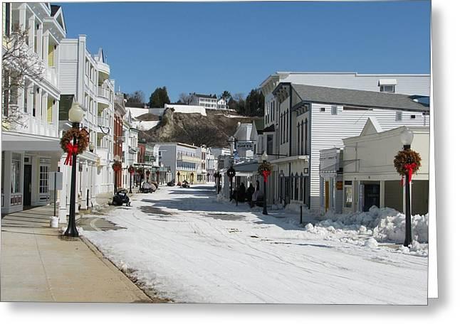 Mackinac Island In Winter Greeting Card
