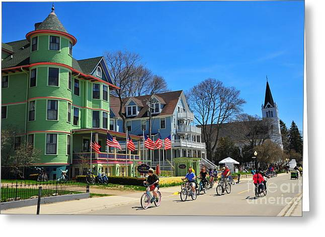 Mackinac Island Waterfront Street Greeting Card