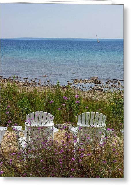 Mackinac View Greeting Card
