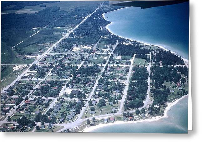 Mackinaw City In The Fifties Greeting Card