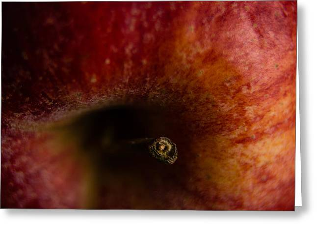 Greeting Card featuring the photograph Macro Apple by Erin Kohlenberg