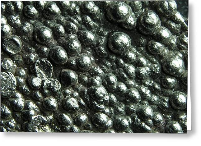 Macrophotograph Of High Purity Cobalt Greeting Card by Alfred Pasieka