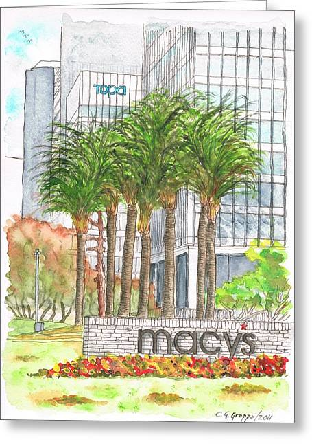 Macy's In Century City Mall - Beverly Hills - California Greeting Card by Carlos G Groppa