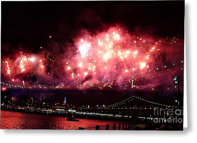 Macy's Spectactual 2014 Fireworks Greeting Card
