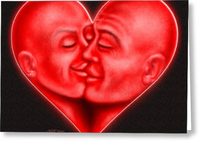 Greeting Card featuring the digital art Mad Love by Cristophers Dream Artistry