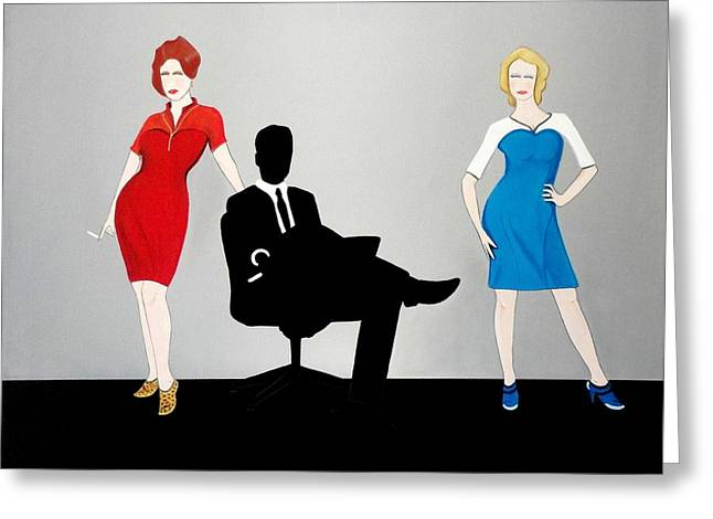 Mad Men In Technicolor Greeting Card