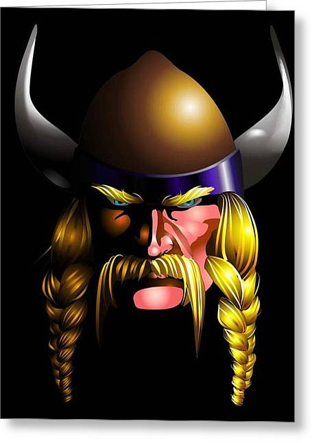 Mad Viking Greeting Card by P Dwain Morris