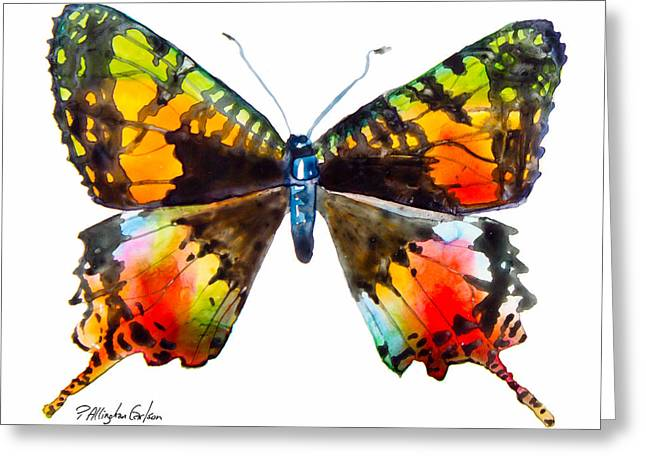 Madagascan Sunset Moth Greeting Card