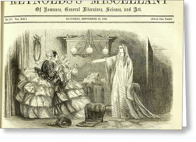 Madame Arundelli And Miss Winch Greeting Card