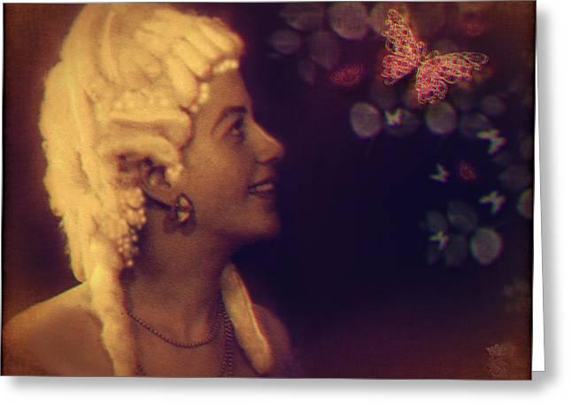 Madame Butterfly Greeting Card by Li   van Saathoff