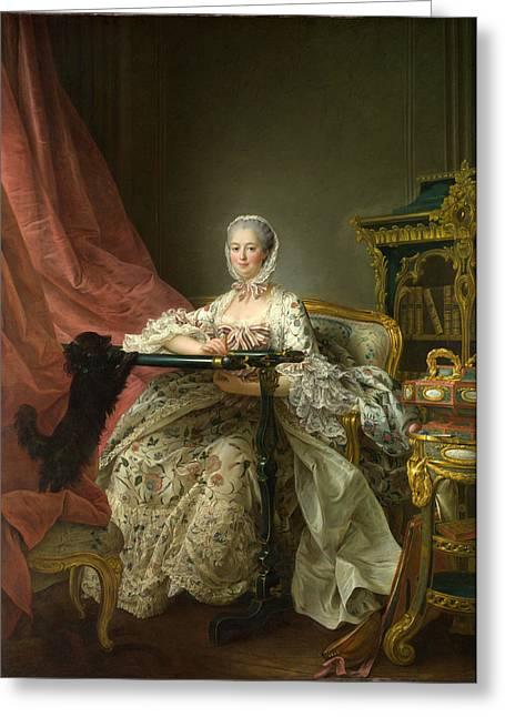 Madame De Pompadour At Her Tambour Frame Greeting Card