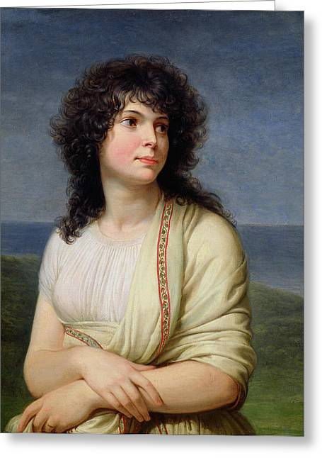Madame Hamelin 1776-1851 Oil On Canvas Greeting Card