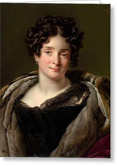Madame Jacques-louis-�tienne Reizet Greeting Card by Anne Louis Girodet-Trioson