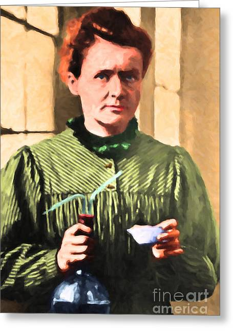 Madame Marie Curie 20140625 Greeting Card by Wingsdomain Art and Photography