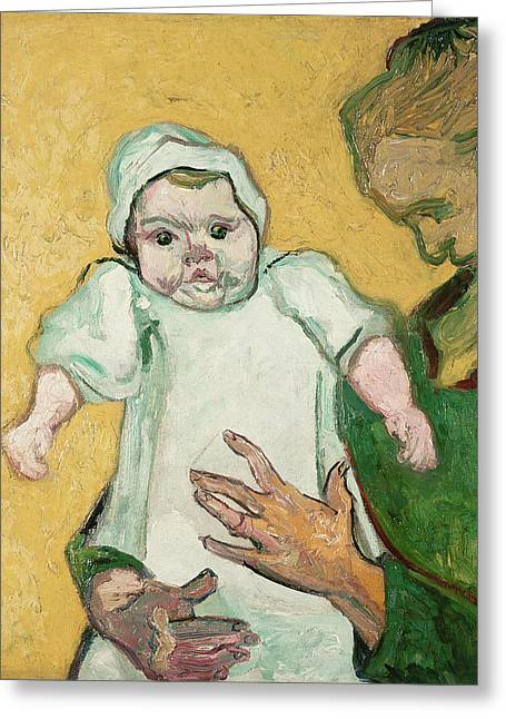 Madame Roulin And Her Baby Greeting Card by Vincent Van Gogh