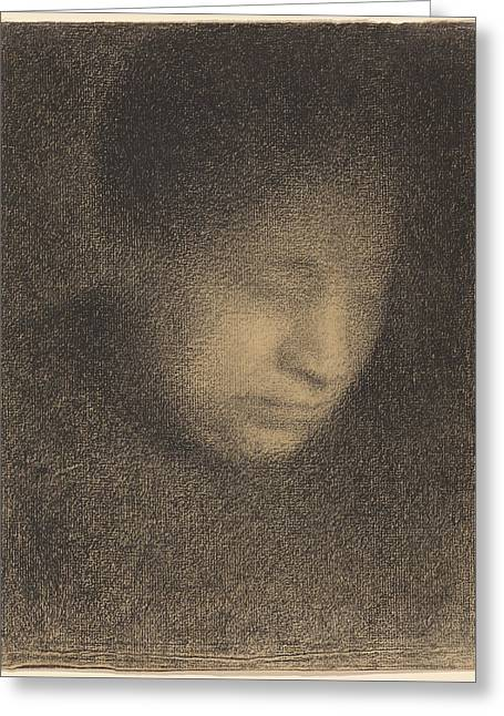 Madame Seurat The Artist's Mother Greeting Card by Georges Seurat