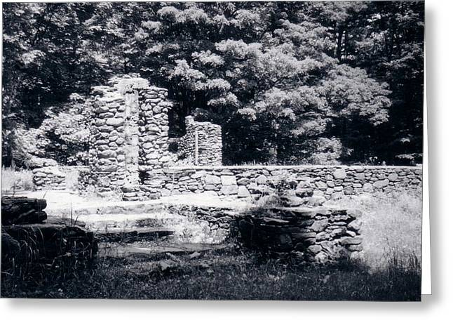 Madame Sherri Castle Ruins Greeting Card by David Fiske