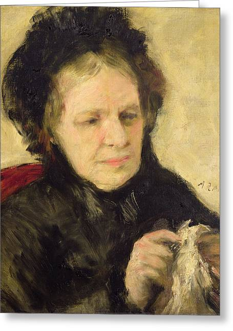 Madame Theodore Charpentier Greeting Card by Pierre Auguste Renoir