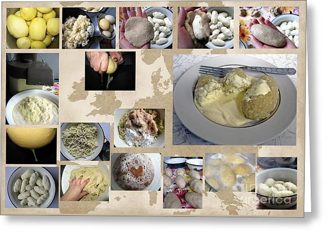 Greeting Card featuring the photograph Made In Lithuania... Cepelinai- Potato Dumplings by Ausra Huntington nee Paulauskaite