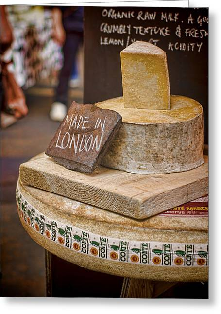 Made In London Greeting Card by Heather Applegate