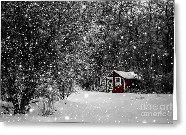 Made In Maine Winter  Greeting Card
