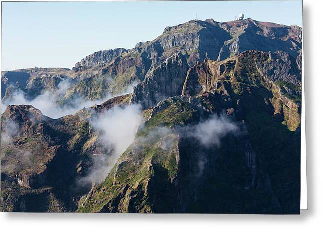 Madeira Central Highland Greeting Card by Dr Juerg Alean
