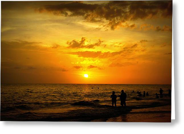 Greeting Card featuring the photograph Madeira Sunset by Laurie Perry