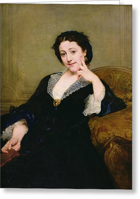Madeleine Brohant 1833-1900 Of The Comedie-francaise, 1860 Oil On Canvas Greeting Card by Paul Baudry