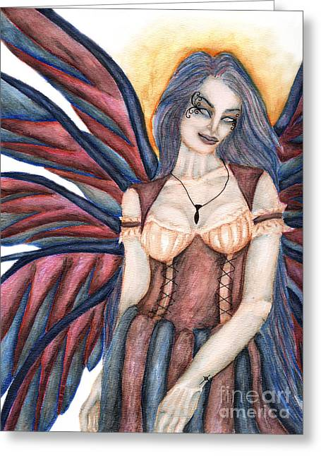 Madeleine   Something Mysterious And Strange II Greeting Card by Coriander  Shea