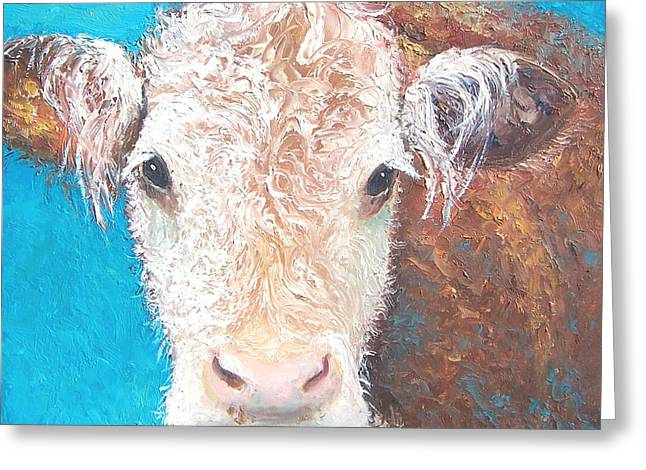 Madelyn The Cow Greeting Card by Jan Matson