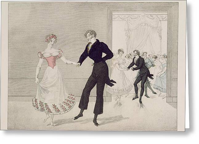 Mademoiselle Busc And Monsieur Corset Greeting Card by French School