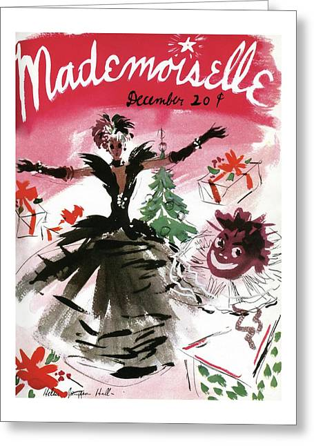 Mademoiselle Cover Featuring A Doll Surrounded Greeting Card