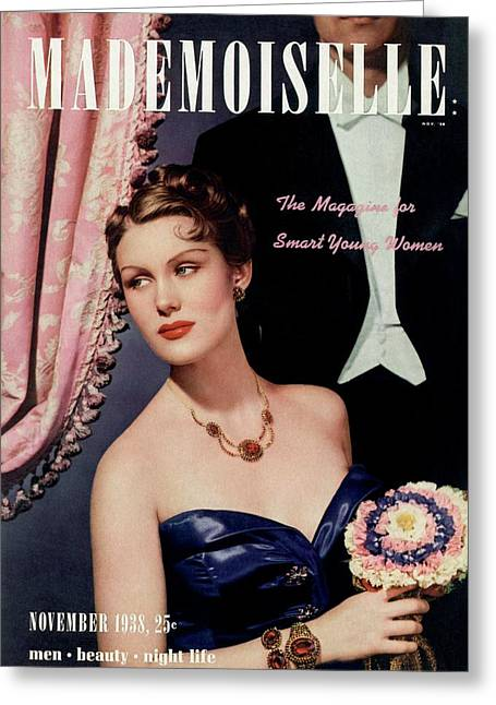 Mademoiselle Cover Featuring A Model In An Opera Greeting Card by Paul D'Ome