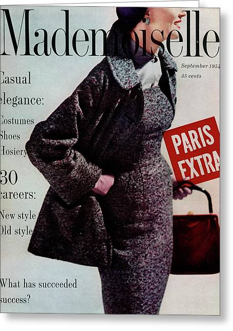 Mademoiselle Cover Featuring A Model Wearing Greeting Card by Stephen Colhoun