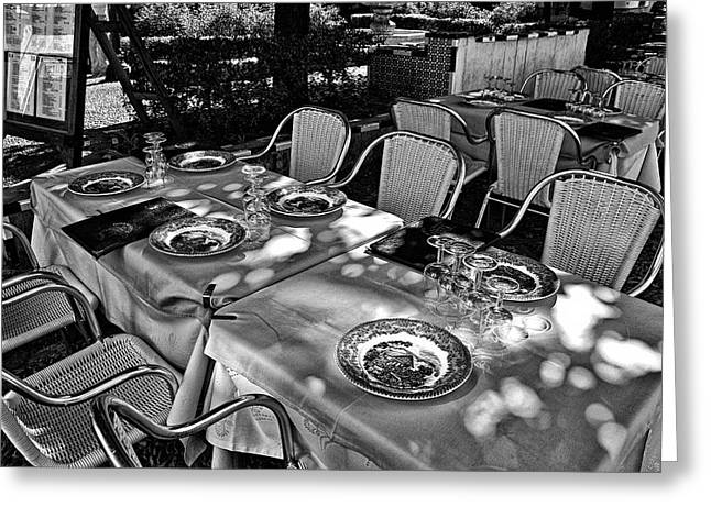 Greeting Card featuring the photograph Madera Table For Lunch by Rick Bragan