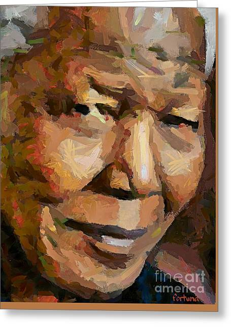 Madiba Greeting Card by Dragica  Micki Fortuna